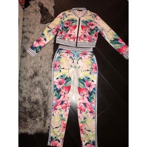 Other - TROPICAL 🌴 JACKET and PANT SET!  🌴💜🌸⭐️